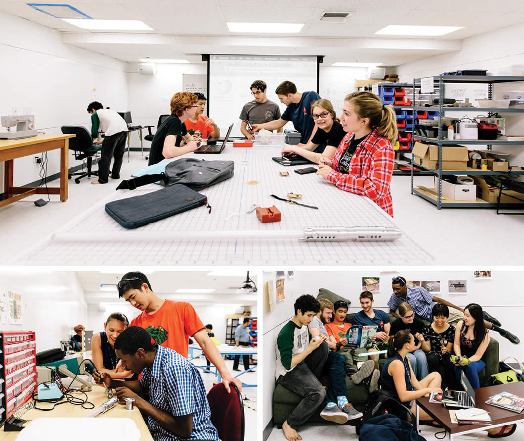 Students in Makerspace