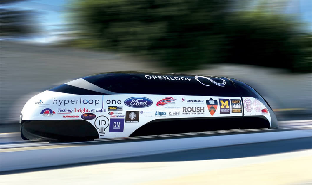 A one-half scale Hyperloop pod.
