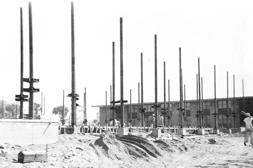 West Dorm under construction.