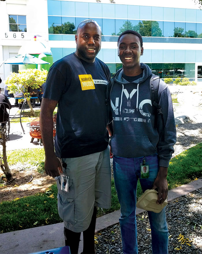Sheldon Logan '06 and David Olumese '19.