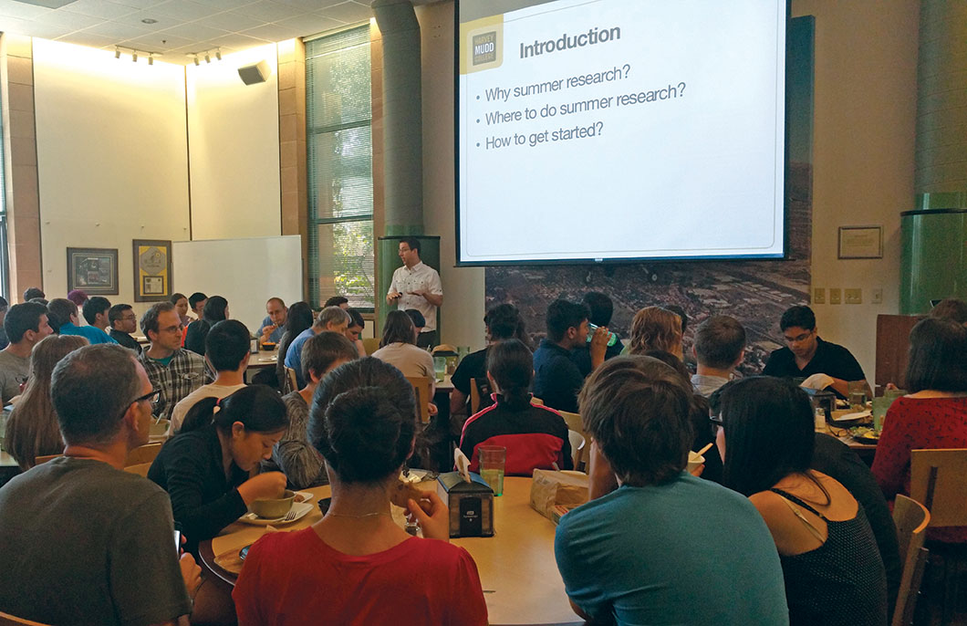 Students were eager to hear Karl Haushalter's talk about summer research.