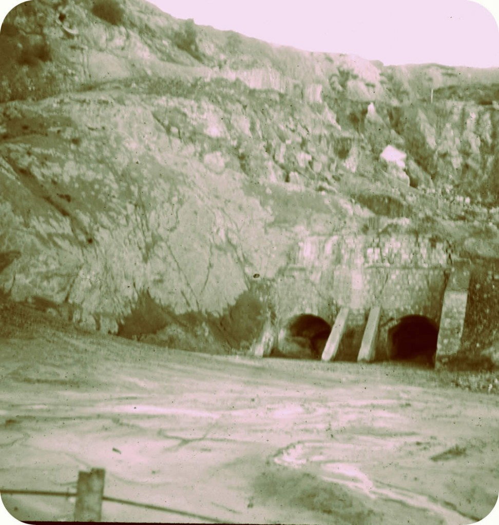Entrance to the historic Roman mine