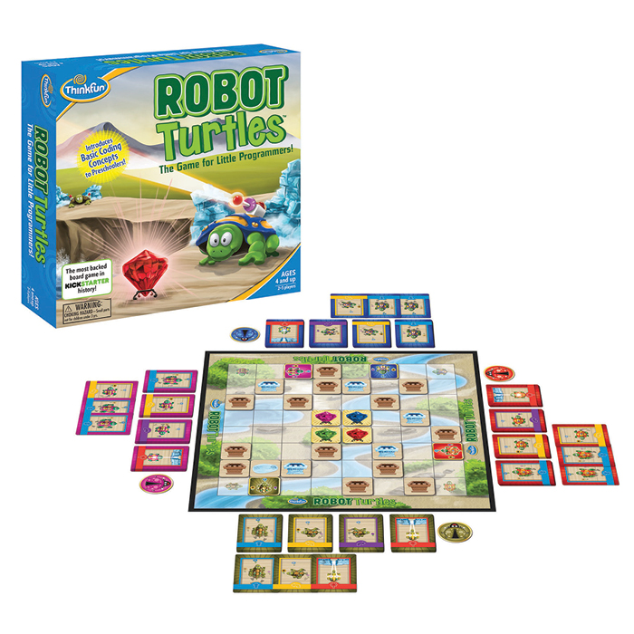 Robot Turtles box and gameboard.