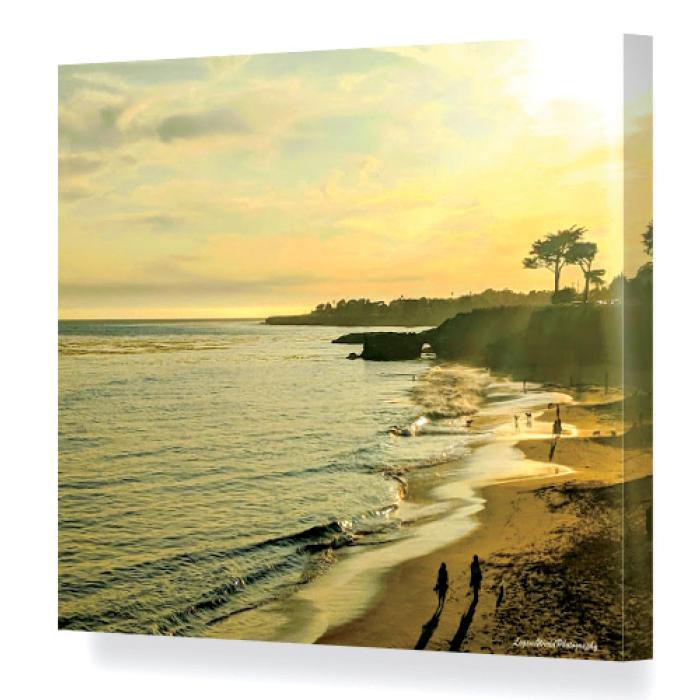 Canvas print of beach and ocean scene